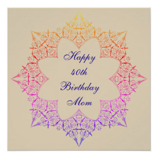 Happy 40th Birthday Mom