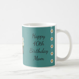 Happy 40th Birthday Mom Coffee Mug