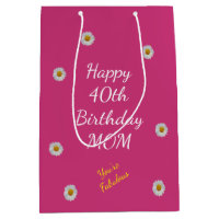 Happy 40th Birthday Mum Gift Bag