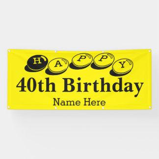 Happy 40th Birthday On Sale Banner