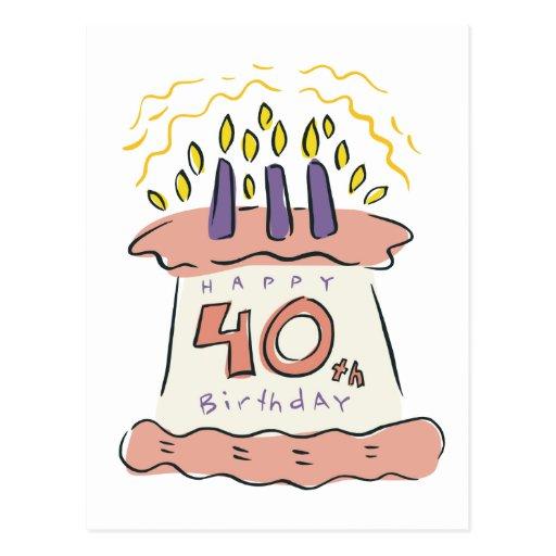 Happy 40th Birthday! Postcard