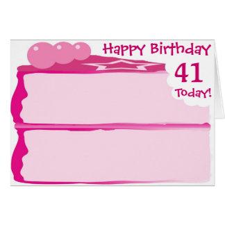 Happy 41st Birthday Greeting Card