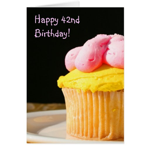 Happy 42nd Birthday Muffin Greeting Card Zazzle