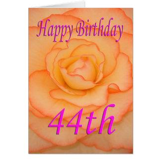 Happy 44th Birthday Flower Card