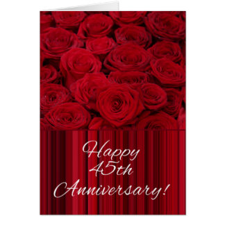 Happy 45th Anniversary roses Greeting Card
