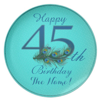 Happy 45th Birthday - 100% personalized plates