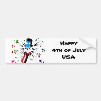Happy 4th 0f July Bumper Sticker