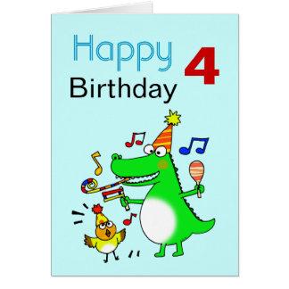 Happy 4th Birthday I am 4 Greeting Card