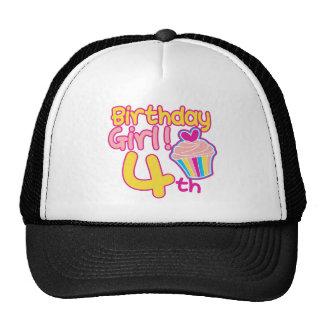 Happy 4th Birthday Mesh Hat