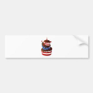 Happy 4th celebration cake bumper sticker