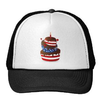 Happy 4th celebration cake trucker hats