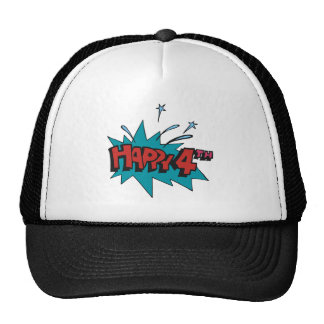 Happy 4th trucker hat