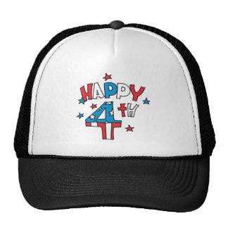Happy 4th mesh hats