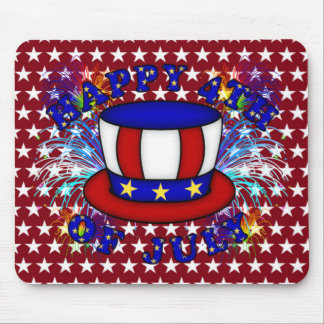Happy 4th July Crackers Mouse Pad