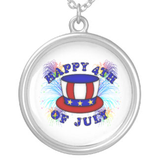 Happy 4th July Crackers Personalized Necklace