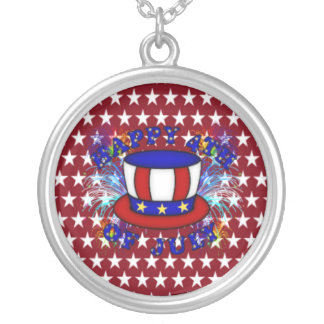 Happy 4th July Crackers Necklace