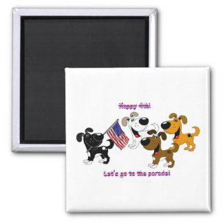 Happy 4th! Let's go to the parade! Refrigerator Magnets