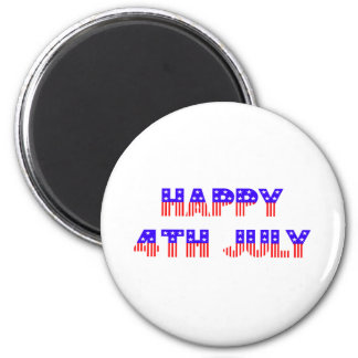 Happy 4th of July 6 Cm Round Magnet