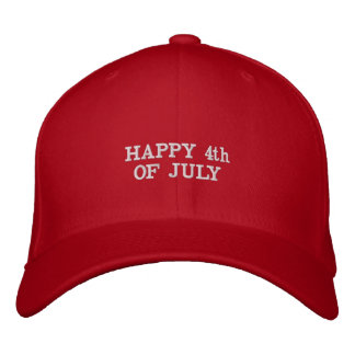 Happy 4th of July - #America Embroidered Hat