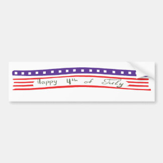 Happy 4th of July American Flag Bumper Stickers
