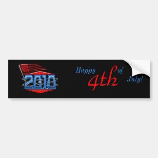 Happy 4th of July American Flag Bumper Sticker