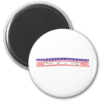 Happy 4th of July American Flag Refrigerator Magnets