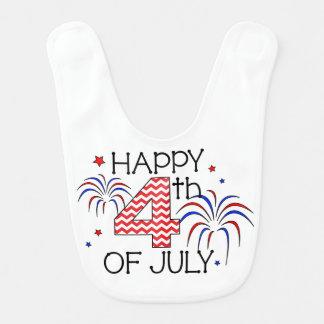 Happy 4th of July Baby Bib
