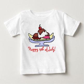 Happy 4th of July baby icecream shirt