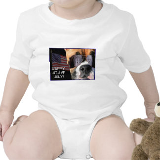 Happy 4th of July Boxer baby Tshirts