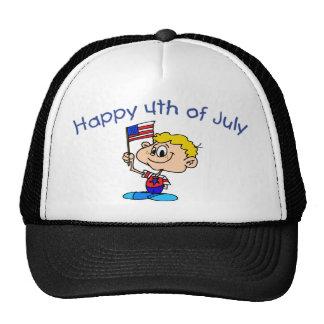 Happy 4th Of July Boy Hats