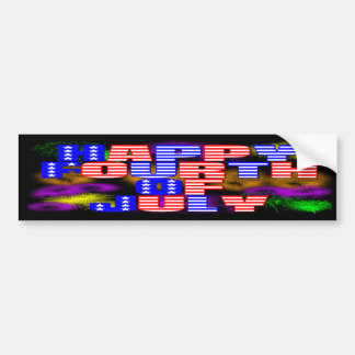 Happy 4th of July Bumper Stickers