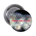 Happy 4th of July   Button