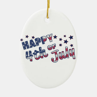Happy 4th Of July Christmas Ornament