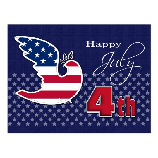 Happy 4th of July. Customisable Postcards