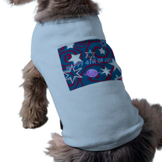 Happy 4th of July Doggie Ribbed Tank Top Pet Tee