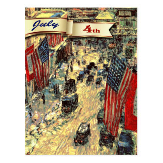 Happy 4th of July. Fine Art Customisable Postcards