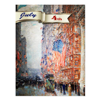 Happy 4th of July. Fine Art Customizable Postcards