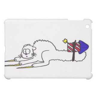 Happy 4th of July firework kitty  independence day Cover For The iPad Mini