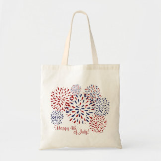 Happy 4th of July Fireworks Tote Bag