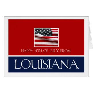 happy 4th of July from Louisiana Card