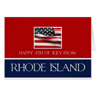 happy 4th of July from Rhode Island Card