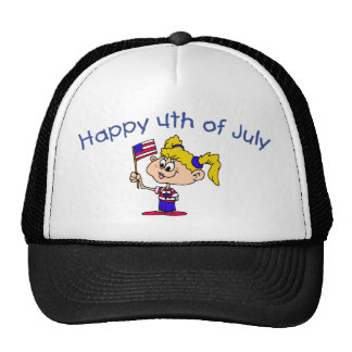 Happy 4th Of July Girl Hat