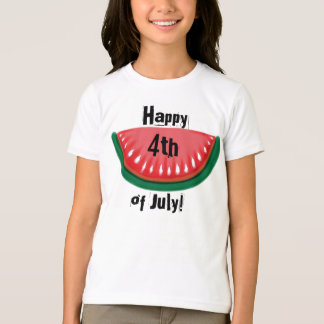 Happy 4th of July girls watermelon tee