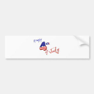 Happy 4th of July, Happy Independence day Bumper Sticker