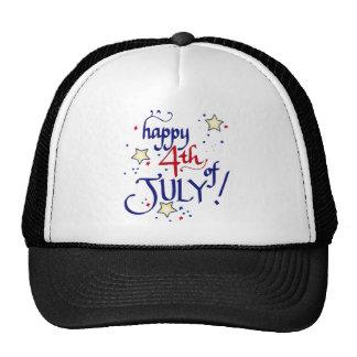 Happy 4th of July Mesh Hat