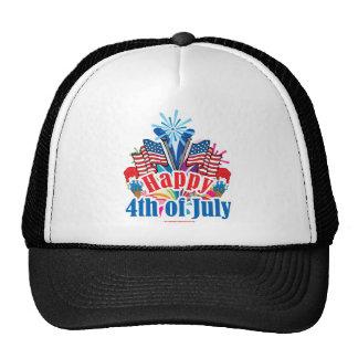 Happy 4th of July Trucker Hats