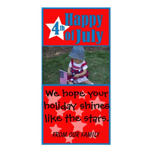 Happy 4th of July Independence Day Photo Card