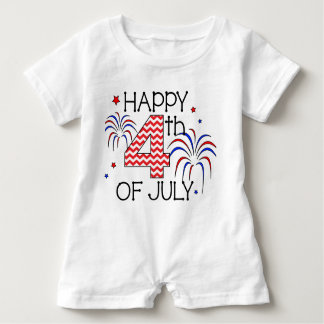 Happy 4th of July Infant Romper Baby Bodysuit