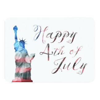 Happy 4th of July (liberty bokeh) 11 Cm X 16 Cm Invitation Card