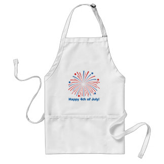 Happy 4th of July party BBQ apron for men or women